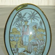 Vintage: MEDALLON PORCELANA PINTADA CON ORO 12KT-RECUERDO DE TENERIFE- MEDIDAS 12*16*5 CMS.. Lote 36718581