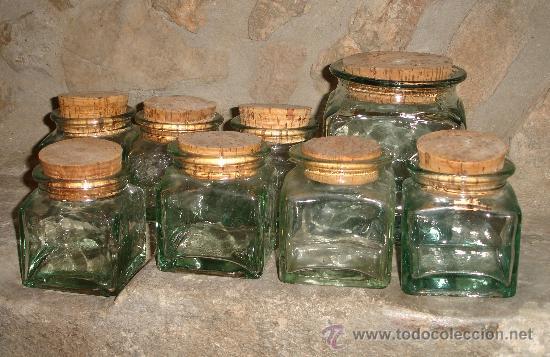 Juego de 8 tarros botes de conserva de crista comprar for Botes cristal decorados