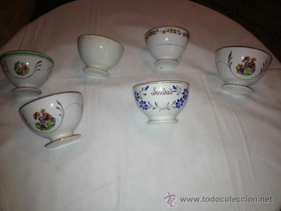 LOTE DE 6 BOL DE CERAMICA, VARIADOS (Vintage - Decoración - Porcelanas y Cerámicas)