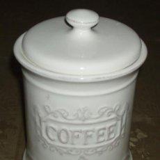 Vintage: BOTE DE PORCELANA PARA GUARDAR CAFE. Lote 37554504