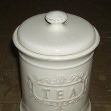 Vintage: BOTE DE PORCELANA PARA GUARDAR EL TEA. Lote 37554576