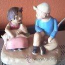 Vintage: HEIDI Y PEDRO FIGURA DE CERÁMICA ZUIYO. AÑOS 80. Lote 37569795