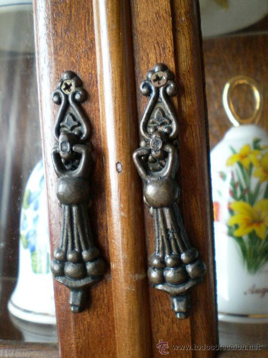 Vintage: Colección campanas de porcelana en vitrina expositor, vintage. - Foto 5 - 37603235