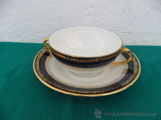 TAZA Y PLATO PORCELANA VISTAALEGRE (Vintage - Decoración - Porcelanas y Cerámicas)
