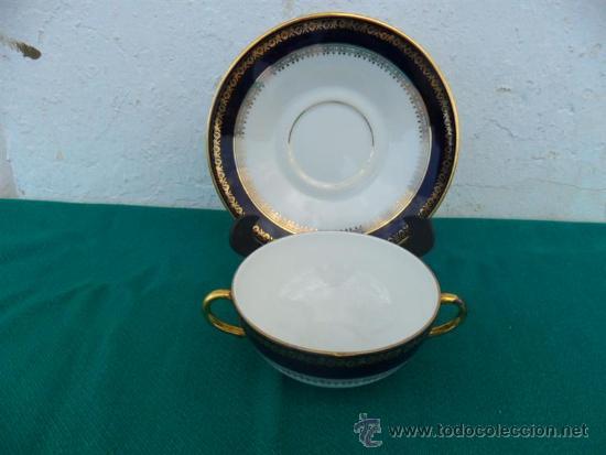 Vintage: taza y plato porcelana vistaalegre - Foto 2 - 37654357