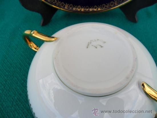 Vintage: taza y plato porcelana vistaalegre - Foto 3 - 37654357