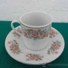 Vintage: TAZA Y PLATO DE PORCELANA. Lote 37654397
