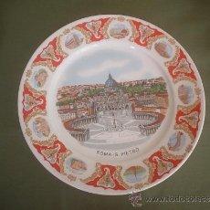Vintage: PLATO DECORATIVO PORCELANA RDO ROMA - SAN PEDRO. Lote 37713207