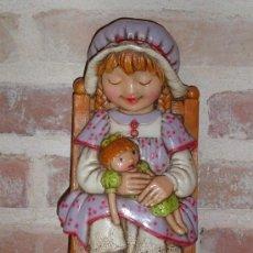 Vintage - VINTAGE FIGURA DE CERAMICA PLANA PARA COLGAR, * CERAMICAS CONVENTO JESUS MARIA * PINTADA A MANO. - 37763220