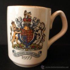 Vintage: MUG TAZA THE QUEEN´S SILVER JUBILEE 1977 * SADLER ENGLAND. Lote 37768524