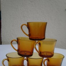 Vintage: DURALEX. 6 TAZAS DE CAFE COLOR AMBAR. AÑOS 60/70 .. Lote 147641816