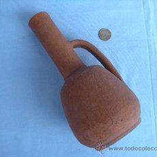 Vintage: BOTELLA, JARRA VASIJA DE BARRO CON ASA.. Lote 38126711