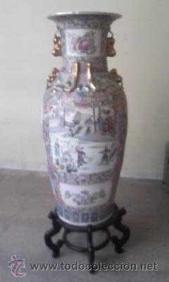 ANTIGUO JARRÓN CHINO DE LA DINASTÍA TUNG CHIH - PERIODO CHING (1862-1875) A.D.CON CERTIFICADO ,REPRO (Vintage - Decoración - Porcelanas y Cerámicas)
