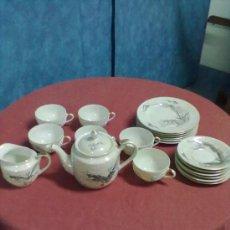 Vintage: JUEGO DE CAFE PORCELANA RELIEVE JAPON VINTAGE. Lote 38437776