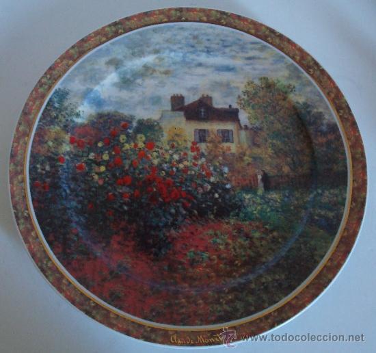 PLATO DE PORCELANA GOEBEL GERMANY - LA MAISON DE L´ARTISTE -CLAUDE MONET (Vintage - Decoración - Porcelanas y Cerámicas)