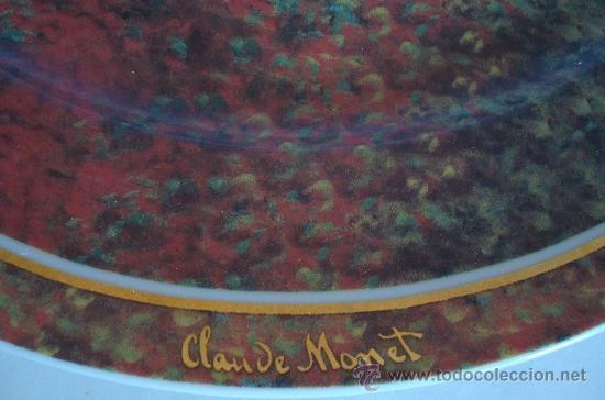 Vintage: PLATO DE PORCELANA GOEBEL GERMANY - LA MAISON DE L´ARTISTE -CLAUDE MONET - Foto 3 - 38774388