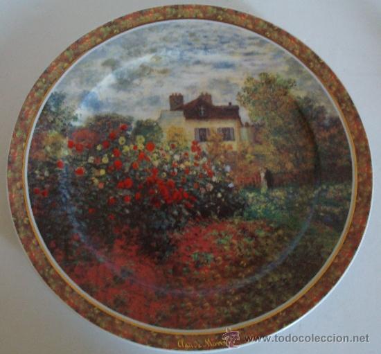 Vintage: PLATO DE PORCELANA GOEBEL GERMANY - LA MAISON DE L´ARTISTE -CLAUDE MONET - Foto 5 - 38774388