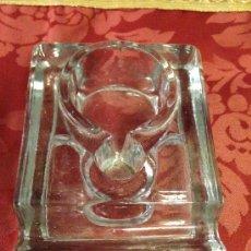 Vintage: TINTERO GRANDE DE CRISTAL ANTIGUO. Lote 38778597