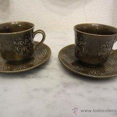 Vintage: DOS TAZAS Y DOS PLATOS. Lote 38786544