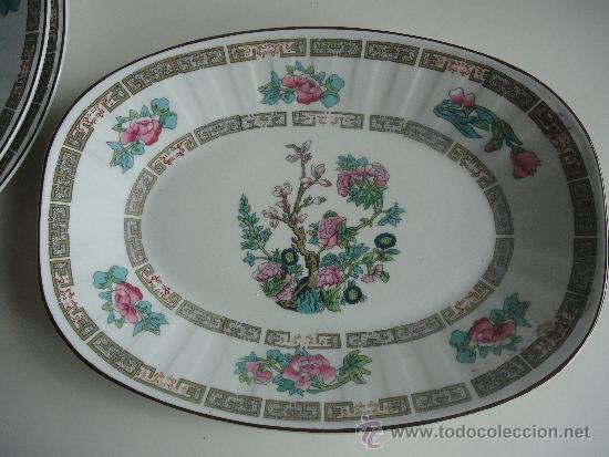 FUENTE PORCELANA PONTESA, IRONSTONE, DE LOS AÑOS 60 CON DECORACIÓN ORIENTAL (Vintage - Decoración - Porcelanas y Cerámicas)