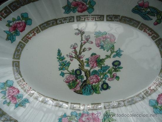 Vintage: fuente porcelana Pontesa, Ironstone, de los años 60 con decoración oriental - Foto 2 - 228002040