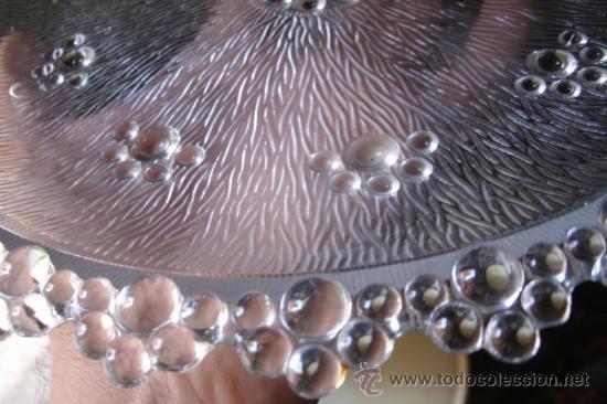 Vintage: JUEGO EN CRISTAL DE FUENTE + 6 PLATOS DE LA MARCA ITALIANA BAROCCO A. MASSERINI ABBIATEGRASSO - Foto 6 - 39241307