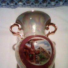 Vintage: PRECIOSA JARRITA PINTADA A MANO AL ORO ORO ,VIDRIADO.. Lote 39190033