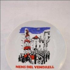 Vintage: PLATO DE CERÁMICA - CASTELLERS NENS DEL VENDRELL - CUATRA DE SIS - FABRICADO EN ESPAÑA POR INSES . Lote 47316594