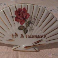 Vintage: ABANICO PORCELANA RECUERDO DE SALAMANCA. AÑOS 70.. Lote 39471197