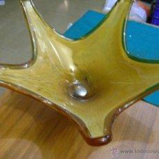 Vintage: FRUTERO DE CRISTAL CON BASE DE METAL. Lote 39495569