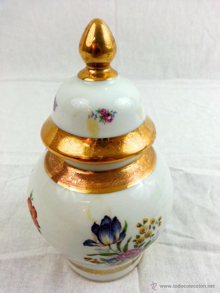 Vintage: Tibor de porcelana con decoraciones en oro - Foto 9 - 39620685