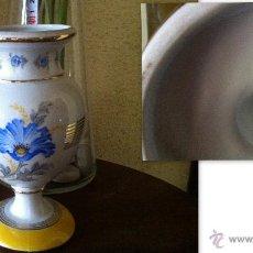 Vintage: JARRÓN DE PORCELANA SELLADA OLLESAC. Lote 39692038