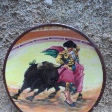 Vintage: PLATO CERAMICA TORERO TOREADOR PLATO FIRMADO. Lote 39857272