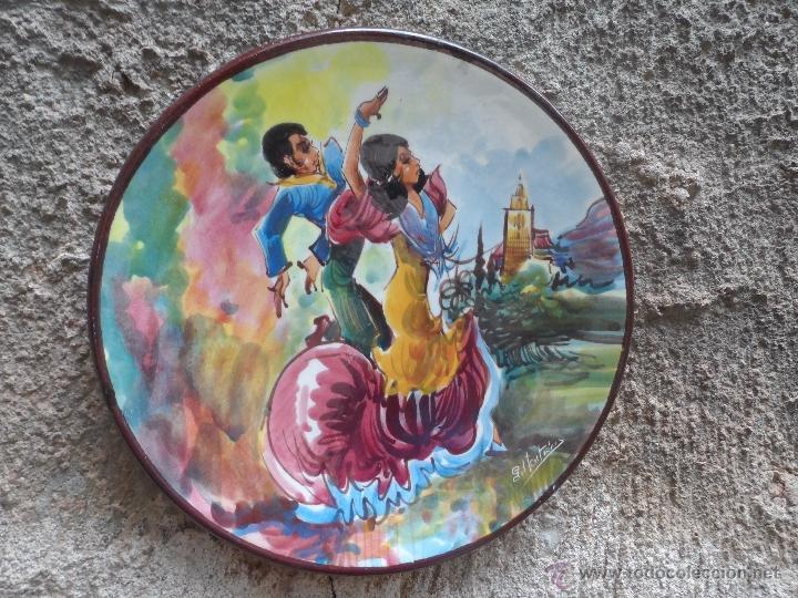 Vintage: PLATO CERAMICA FIRMADO BAILE FLAMENCO - Foto 4 - 39857375