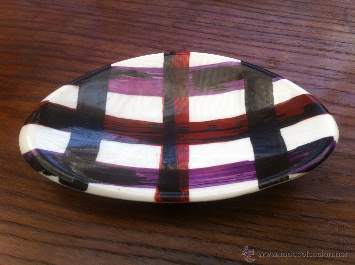 Vintage: Fabuloso juego aperitivo o ceniceros boomerang vintage años 50 de ceramica, retro, mid century - Foto 3 - 39918974