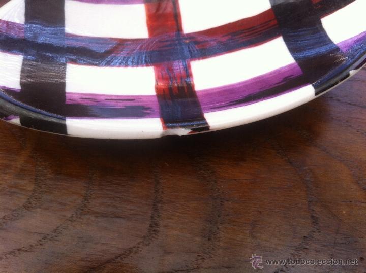 Vintage: Fabuloso juego aperitivo o ceniceros boomerang vintage años 50 de ceramica, retro, mid century - Foto 5 - 39918974