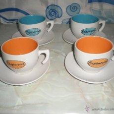 Vintage: BONITA PAREJA DE TU Y YO EN CERAMICA VIDRIADA VINTAGE 8 PIEZAS JUEGOS DE CAFE CON LECHE. Lote 40075336