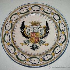 Vintage: ANTIGUO PLATO DE CERAMICA DE TALAVERA DE LA REINA - MUY BONITO CON ESCUDO TRADICIONAL - MIDE 40 CMS.. Lote 38248022