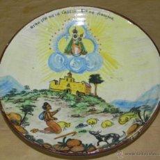 Vintage: ANTIGUO PLATO DE CERAMICA NUESTRA SEÑORA DE LA CABEZA, RECUERDO DE ANDUJAR, MARCA C.N. 10, MIDE 29,5. Lote 38285986