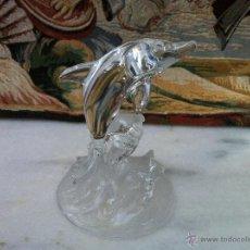Vintage: DELFIN DE CRISTAL DE ARQUES DE 16 CM DE ALTO.. Lote 194960772
