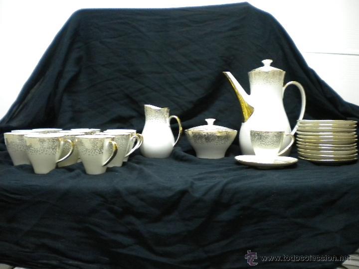 JUEGO DE CAFE PORCELANA AÑOS 50. (Vintage - Decoración - Porcelanas y Cerámicas)