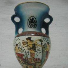 Vintage: JARRON GRIEGO TERRACOTA PINTADA MUSAS ANGEL GRECIA. Lote 40481890