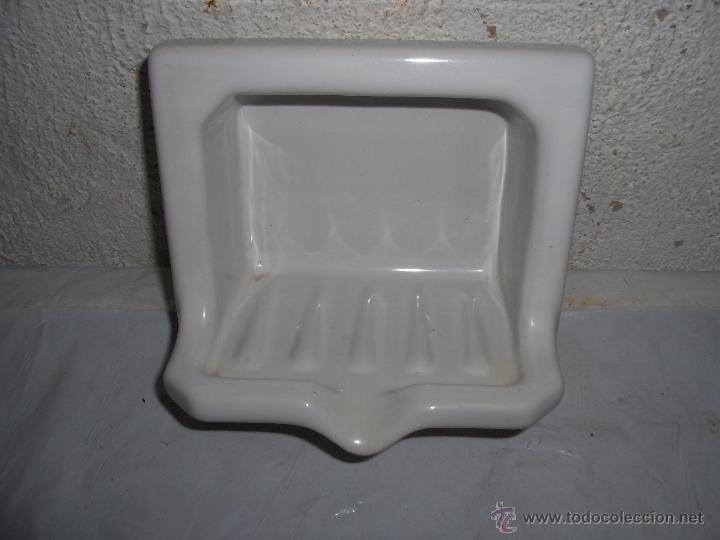 Jabonera ba o ceramica porcelana antigua para comprar for Porta jabonera para bano