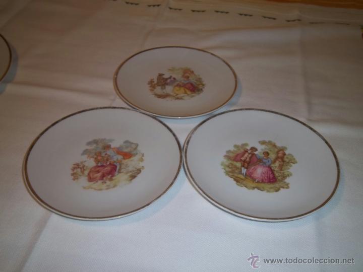 TRES PLATOS DE POSTRE (Vintage - Decoración - Porcelanas y Cerámicas)