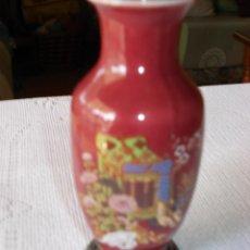 Vintage: JARRON PORCELANA CHINA CON BASE DE ALPACA. Lote 40774262