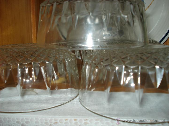 6 CUENCOS TALLADOS DE CRISTAL (Vintage - Decoración - Cristal y Vidrio)