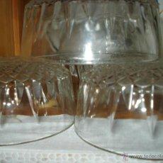 Vintage: 6 CUENCOS TALLADOS DE CRISTAL. Lote 40774385