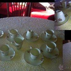 Vintage: VAJILLA JUEGO DE CAFÉ DE DE PORCELANAN , ORIGEN ESPAÑA : 19 PZAS. . Lote 40796301