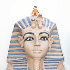 Vintage: GRAN FIGURA FARAON ANTIGUO EGIPTO BUSTO TUTANKAMON TUTAN KAMON CERAMICA PORCELANA NADAL VINTAGE. Lote 40852401