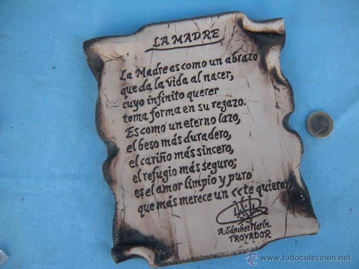 Placa cer mica con poema trovo a la madre anto comprar - Ceramicas sanchez ...